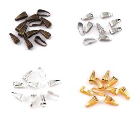 Haakje Klemmetje voor Hanger - metaal - 7x3mm -  10 stuks