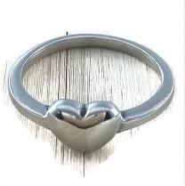 Ring 316L stainless steel - rvs - met klein hartje