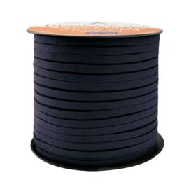 Faux Suede koord Plat - Donkerblauw ( midnightblue) 3x1.4mm