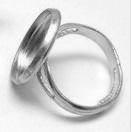 Ring met Cabochon Setting (zetkastje) voor 16mm cabochon