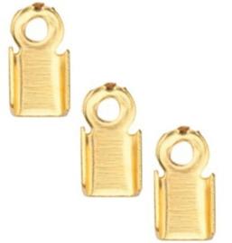 Veterklem - Goudkleur - 6x3mm - 40 stuks