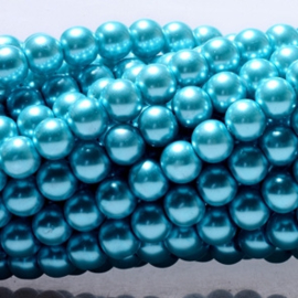 Glasparels Turquoise Blauw – 4mm of 6mm