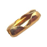 Sluiting / Tussenkap voor 2.4mm Bolletjes ketting - goudkleur metaal - 10 stuks