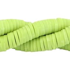 Katsuki kralen 6mm – Lime Groen - ca 70 stuks of hele streng