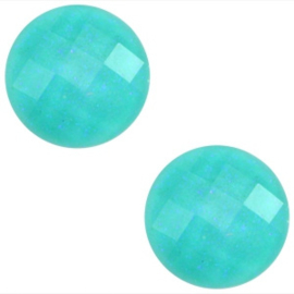 Basic Cabochon - 10mm - Acryl - Erinite Green Glitter - 5 stuks