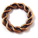 Metalen Tussenzetsel Ring, Rond 2 zijdig bewerkt - 19mm Antiek Koper