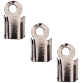 Veterklem - Zilver Antraciet / Gunmetal - 6x3mm - 40 stuks