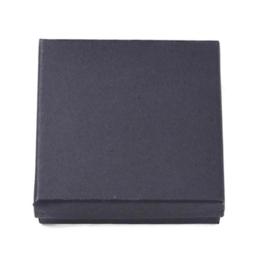 Sieraden doosje zwart met binnen kussentje - 9x9x3cm