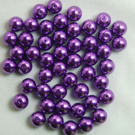 Glasparels Donker Paars / Amethyst - 4mm of 6mm