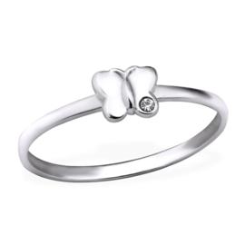 Zilveren Ring Vlinder met zirkiona - 925 sterling zilver