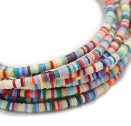 Katsuki kralen 6mm - lichte kleuren mix - 70 stuks of streng