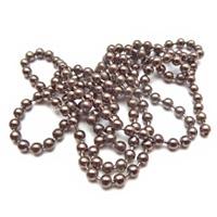 Bolletjes ketting antraciet zilver / gunmetal - 1 meter
