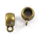 Kraal met oogje – Oud  Brons Metaal  - 10x8x5mm gat - 5mm - 5 stuks