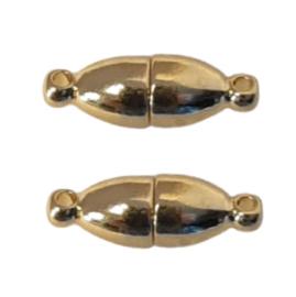 Goudkleur Metaal Magneetslot - Ovaal - 18x6mm