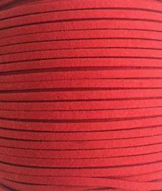 Faux Suede koord Plat -  Roze ( pink ) 3x1.4mm 021
