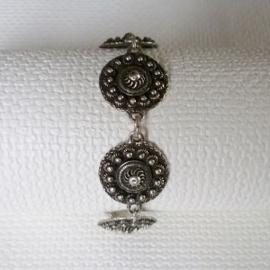Zeeuwse knop armband met 6 platte knopen