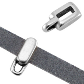 DQ Metalen Schuiver Rechthoek met oog voor 5mm plat leer