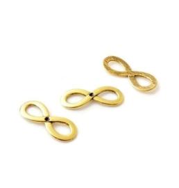 Tussenzetsel Infinity teken met kastje voor 2mm similisteen - Oud goudkleur