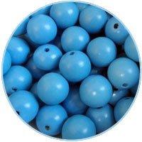DQ Houten kralen 12mm Lichtblauw - 10 stuks