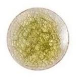 Handgemaakte Porcelein Cabochon Olijfgroen - Crackle - 20x3mm