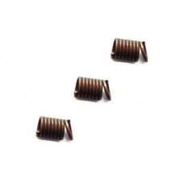 Metaal spiraal veterklem 4mm Antiek koper - 10 stuks