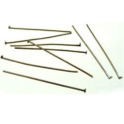 Metalen Nietstift - Antiekbrons - 50mm x 0.8mm - 50 stuks