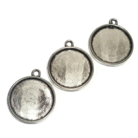 Cabochon Setting rond met 1 oogje voor 16mm cabochon
