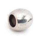 Metalen kraal met groot gat - glad - 9x8mm - gat 5mm
