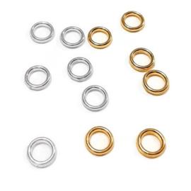Gesloten metalen ringetjes - 6.0x1.0mm - goud of zilverkleur - 50 stuks