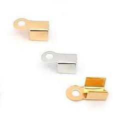 Metaal Veterklem - Antiek Zilver of Goudkleur - 9x3.5mm - 20 stuks