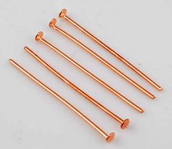Metaal Nietstift - Roségoudkleur - Lengte 30 of 40mm
