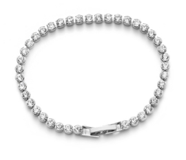 Armband met Oostenrijkse Crystal Steentjes - Zilverkleur