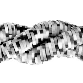 Katsuki Schijfkraal 6mm Zwart Grijs Wit  - 65 stuks of hele streng