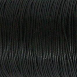 Waxdraad Zwart 1mm x 2 meter