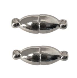 Zilverkleur Metaal Magneetslot Ovaal 18x6mm