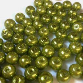 Glasparels Mosgroen - 4mm of 6mm