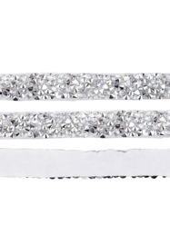 Crystal diamond tape 10mm Zilverkleur - 20cm