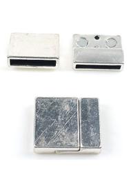 Magneetslot Metaal Zilverkleur - Gat 22,5 x 3,5mm
