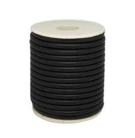 Zwart rubberkoord ca. 3mm - gat ca. 2mm - 50cm