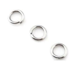 Montage ringetjes (roestvrij staal) 5.0x0.6mm - 50 stuks