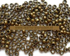 Knijpkraal rond - 2,0mm - Antiek Brons - 50 stuks