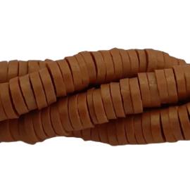 Katsuki kralen 4mm - Goudbruin - 70 stuks of streng