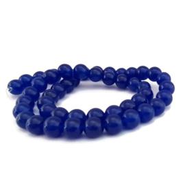 Jade Kralen 8mm Donkerblauw - 6 stuks