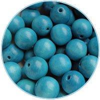 DQ Houten kralen 12mm Azuurblauw - 10 stuks
