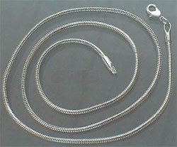 slangenketting snake chain silverplated -  1.8mm
