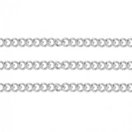 DQ Ketting met 2x1,5mm schakels, roestvrij staal - 50cm