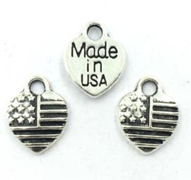 Bedel Hanger Druppel –  Made in USA - Zilverkleur metaal - 13x12mm