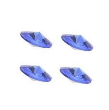 Glas kristal punt similisteen -  rond facet geslepen - 8mm - SS39