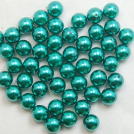 Glasparels Pauwen Blauw – 4mm of 6mm