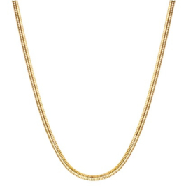 Goudkleur Slangen Halsketting - Stainless steel